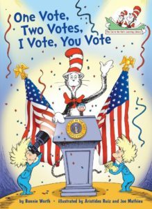 One Vote, Two Votes, I Vote, You Vote Jacket Image; On Sale: July 26, 2016 (PRNewsFoto/Random House Children's Books)