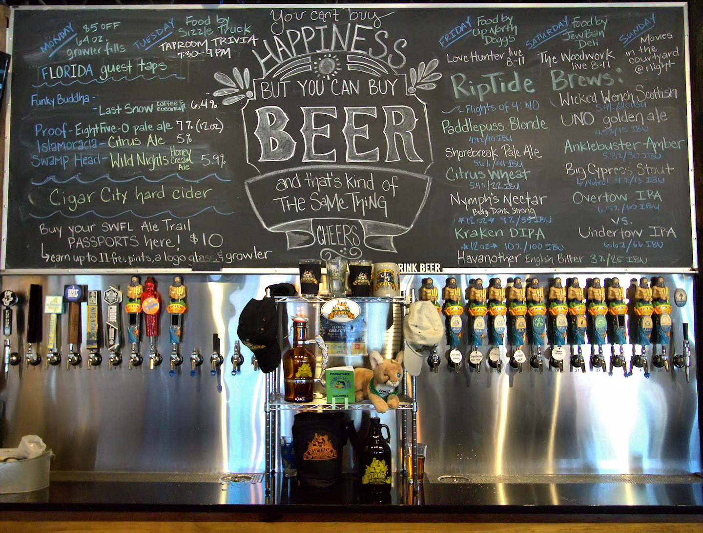 Riptide Brewing: Beer selections