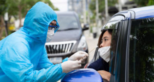 https://www.freepik.com/premium-photo/nurse-wearing-ppe-suit-medical-workers-full-protective-gear-takes-sample-from-woman-driver-inside-car-drive-thru-test-coronavirus-covid-19_8315205.htm