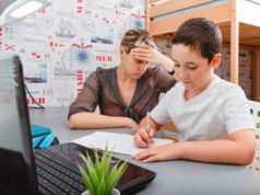 https://www.freepik.com/premium-photo/mother-trying-talk-with-client-about-work-laptop-while-child-staying-home-homeschooling-distance-learning_9609042.htm