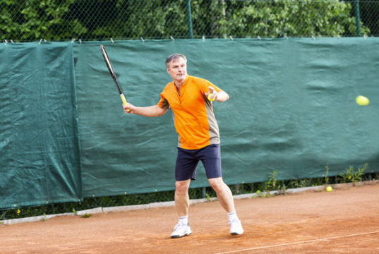 https://www.freepik.com/premium-photo/middle-aged-man-plays-tennis-court-with-natural-earth-surface-sunny-summer-day_6595191.htm#page=2&query=senior+tennis&position=22