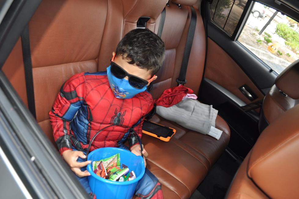 Lighthouse client Matthew Caraballo decked out as Spiderman