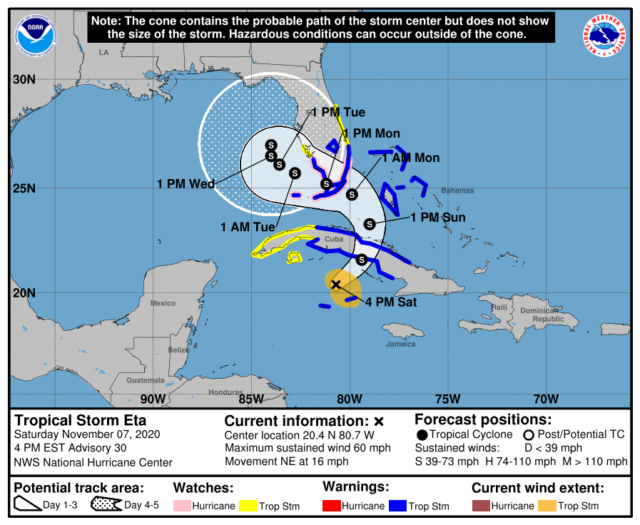 Hurricane Watch Issued Tropical Storm Warnings Extended Video South Florida Reporter