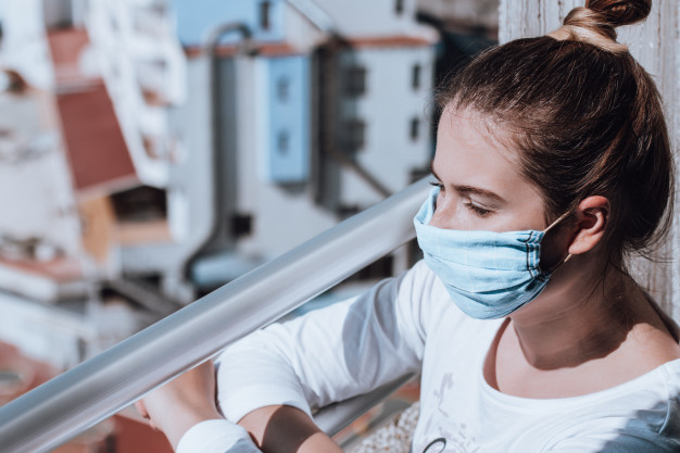 https://www.freepik.com/premium-photo/young-woman-wearing-selfmade-mask-due-medical-mask-shortage-quarantine-portrait-woman-self-isolated-during-covid-pandemic-watching-city-mask-made-from-handkerchief-medical-mask-shortage_8297273.htm#page=1&query=covid+mental+health&position=19