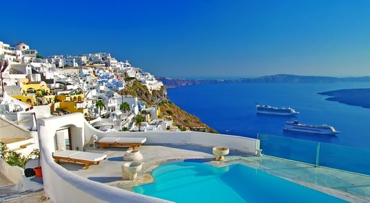 https://www.freepik.com/premium-photo/greece-travel-wonderful-santorini-island-holidays-luxury-resort-with-swimming-pool-volcano-view_10026359.htm