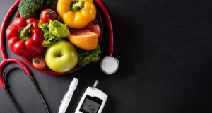 https://www.freepik.com/premium-photo/top-view-healthy-food-plate-with-stethoscope-diabetes-control-dark-surface_13587501.htm#page=1&query=diabetic+plate&position=27