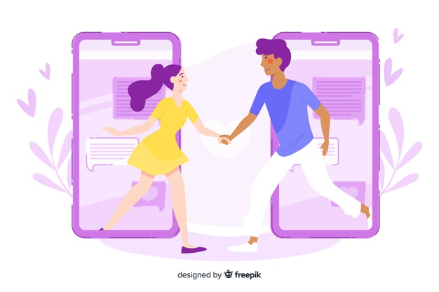 https://www.freepik.com/free-vector/dating-app-concept-with-people-holding-hands_5418688.htm#page=3&query=dating&position=46