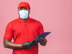 https://www.freepik.com/premium-photo/delivery-man-red-cap-blank-t-shirt-uniform-sterile-face-mask-gloves_11822359.htm