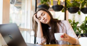 https://www.freepik.com/free-photo/portrait-tired-young-businesswoman-sitting-table-with-laptop-computer-while-holding-cup-coffee-sleeping-cafe_13549725.htm#page=1&query=fatigue&position=10