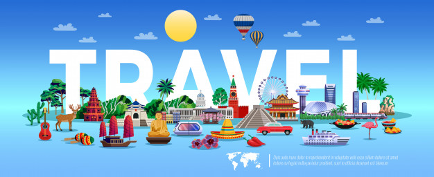 https://www.freepik.com/free-vector/travel-tourism-illustration-with-resort-sightseeing-elements_6932247.htm#page=1&query=travel&position=26