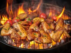 https://www.freepik.com/free-photo/grilled-chicken-wings-flaming-grill-with-grilled-vegetables-barbecue-sauce-with-pepper-seeds-rosemary-salt-top-view-with-copy-space_13012802.htm?query=bbq