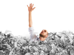 https://www.freepik.com/premium-photo/man-asks-help-flooded-with-crumpled-paper_14164576.htm#page=1&query=debt%20drowning&position=9