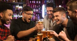https://www.freepik.com/free-photo/happy-male-friends-clinking-with-beer-mugs-pub_7785371.htm#page=1&query=bachelor%20party&position=2