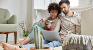 https://www.freepik.com/free-photo/lovely-family-couple-cuddle-together-dressed-casually-enjoy-domestic-atmosphere-synchronize-data-laptop-computer-work-family-business-project-drink-hot-beverage-cactus-foreground_12203102.htm#page=1&query=couple%20computer&position=0